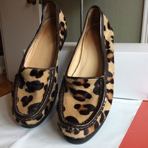 BODEN CALF HAIR LOAFERS SIZE SIZE 40 BROWN/BLACK
